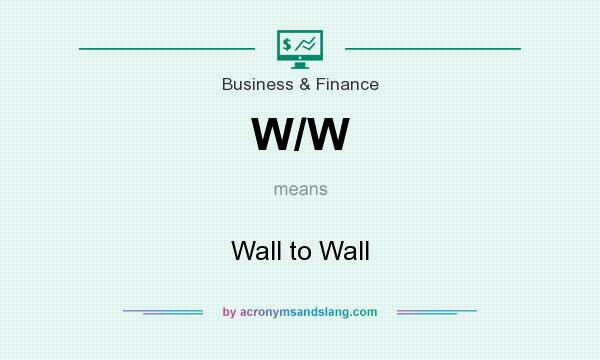 What does W/W mean? It stands for Wall to Wall
