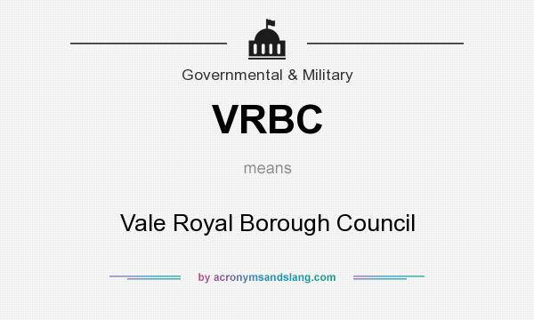 What does VRBC mean? It stands for Vale Royal Borough Council