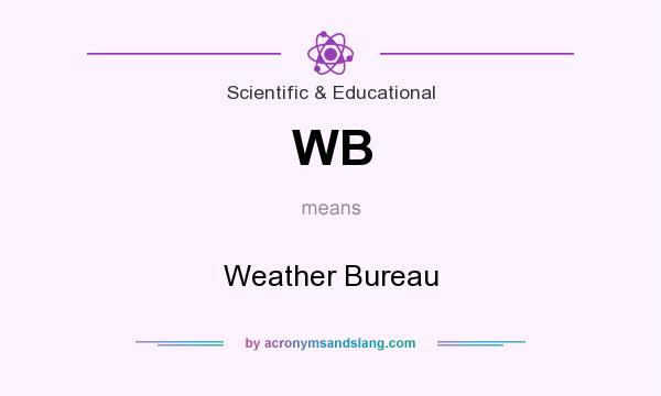 What does WB mean? It stands for Weather Bureau