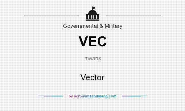 What does VEC mean? It stands for Vector