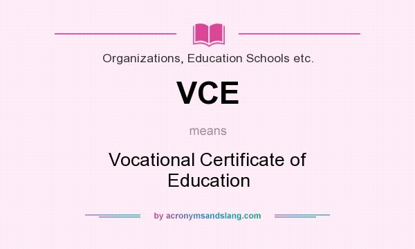 VCE - Vocational Certificate of Education in Organizations ...