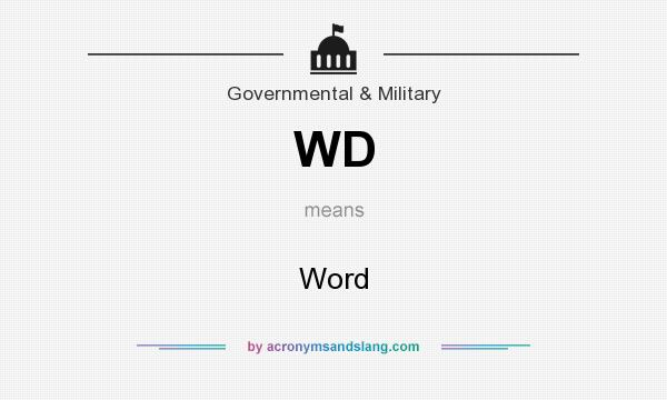 What does WD mean? It stands for Word