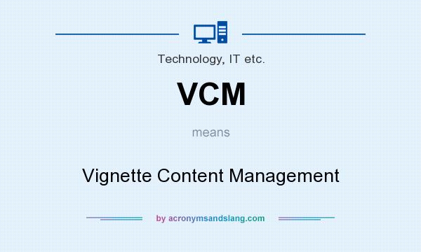 vcm vignette content management in technology it etc by. Black Bedroom Furniture Sets. Home Design Ideas