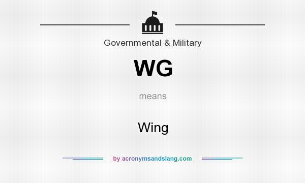 What does WG mean? It stands for Wing