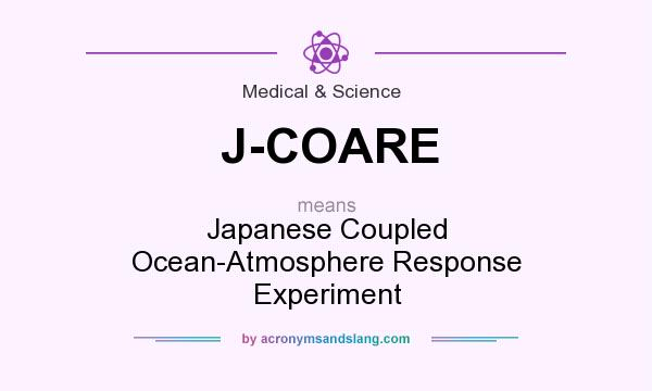 What does J-COARE mean? It stands for Japanese Coupled Ocean-Atmosphere Response Experiment