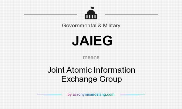 What does JAIEG mean? It stands for Joint Atomic Information Exchange Group