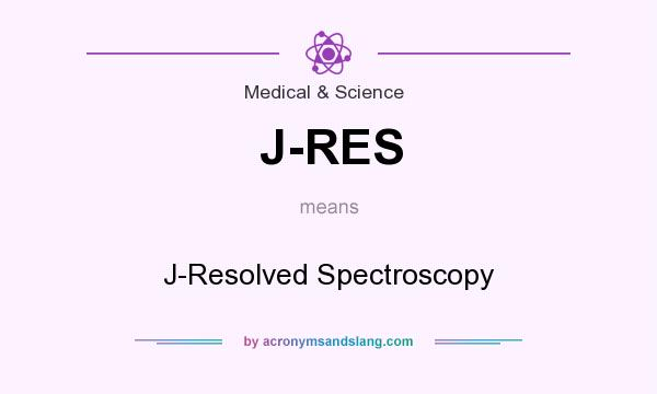 What does J-RES mean? It stands for J-Resolved Spectroscopy
