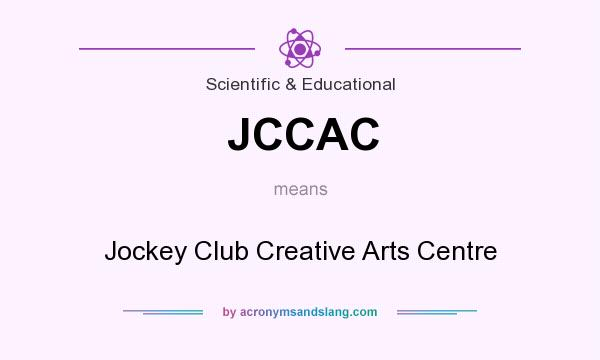 What does JCCAC mean? It stands for Jockey Club Creative Arts Centre