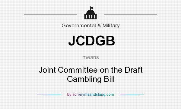 Draft gambling bill casino casino promotion uk
