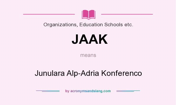What does JAAK mean? It stands for Junulara Alp-Adria Konferenco