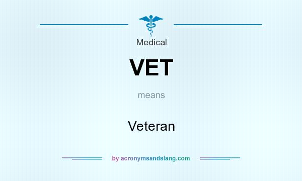 What does VET mean? It stands for Veteran