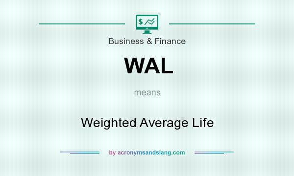 What does WAL mean? It stands for Weighted Average Life