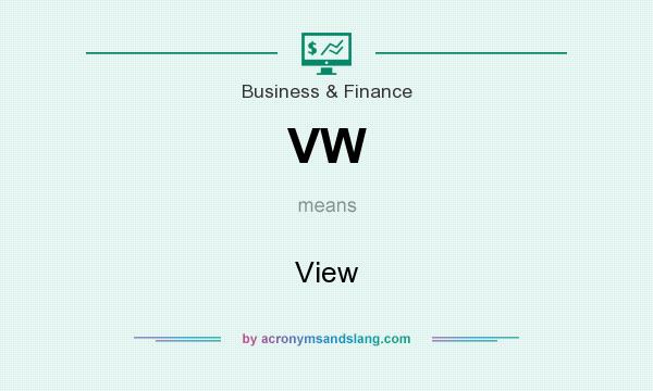 What does VW mean? It stands for View