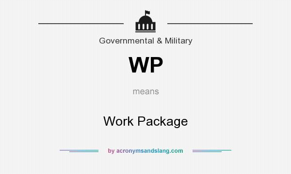 What does WP mean? It stands for Work Package