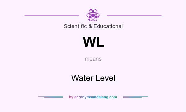 What does WL mean? It stands for Water Level