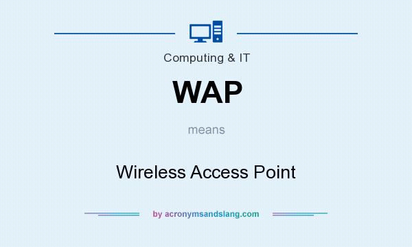 What does WAP mean? It stands for Wireless Access Point