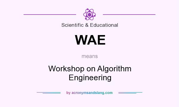 What does WAE mean? It stands for Workshop on Algorithm Engineering