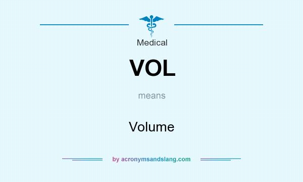 What does VOL mean? It stands for Volume