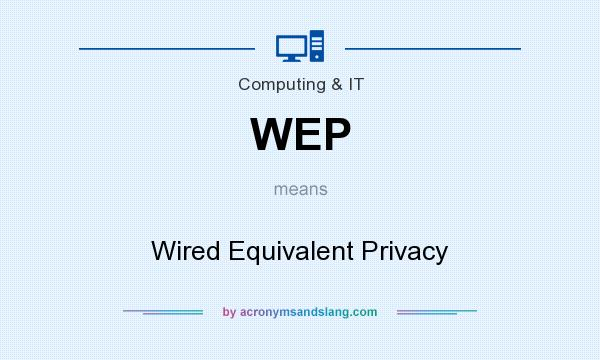 What does WEP mean? It stands for Wired Equivalent Privacy