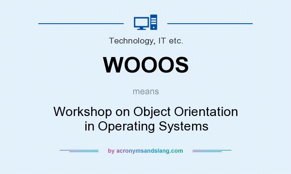 What does WOOOS mean? It stands for Workshop on Object Orientation in Operating Systems