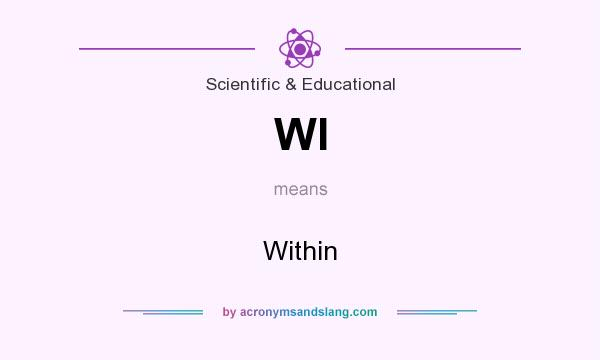 What does WI mean? It stands for Within