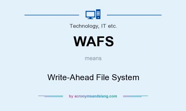 What does WAFS mean? It stands for Write-Ahead File System