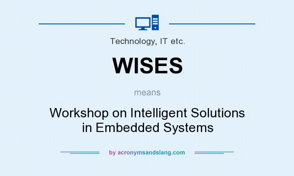 What does WISES mean? It stands for Workshop on Intelligent Solutions in Embedded Systems