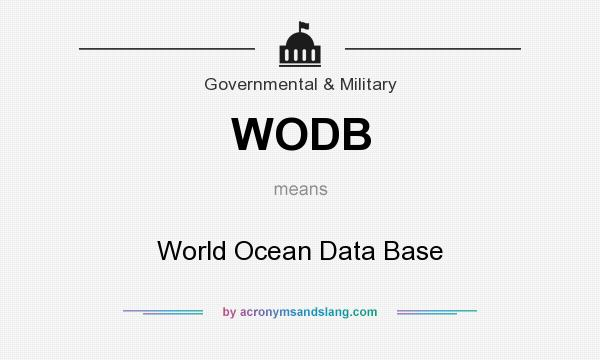 What does WODB mean? It stands for World Ocean Data Base