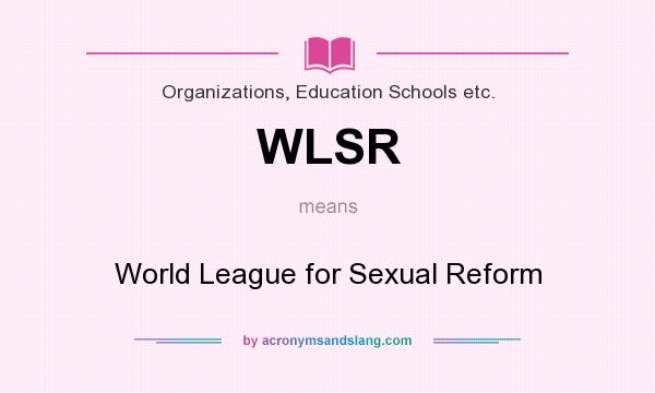 World league for sexual reform