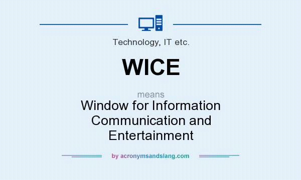 What does WICE mean? It stands for Window for Information Communication and Entertainment
