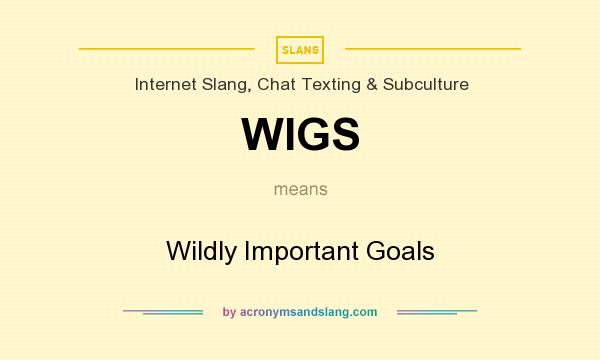 What does WIGS mean? It stands for Wildly Important Goals