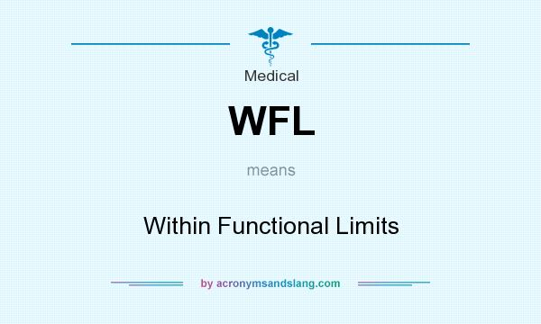 What does WFL mean? It stands for Within Functional Limits