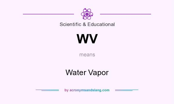 What does WV mean? It stands for Water Vapor