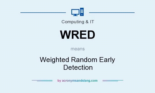 What does WRED mean? It stands for Weighted Random Early Detection