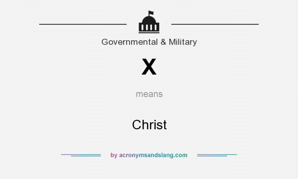 What does X mean? It stands for Christ