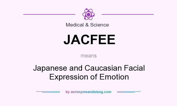 What does JACFEE mean? It stands for Japanese and Caucasian Facial Expression of Emotion