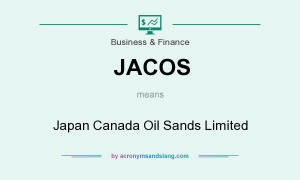 What does JACOS mean? It stands for Japan Canada Oil Sands Limited