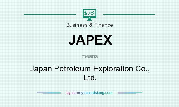 What does JAPEX mean? It stands for Japan Petroleum Exploration Co., Ltd.