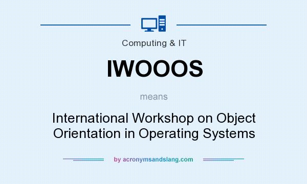 What does IWOOOS mean? It stands for International Workshop on Object Orientation in Operating Systems