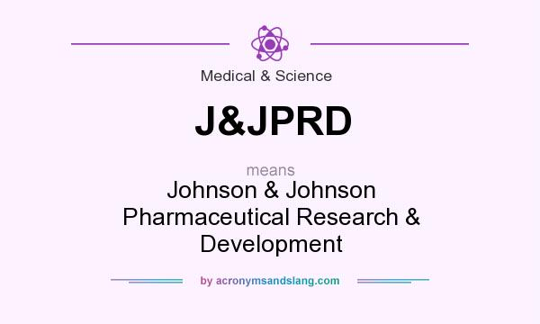 What does J&JPRD mean? It stands for Johnson & Johnson Pharmaceutical Research & Development