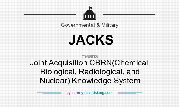 What does JACKS mean? It stands for Joint Acquisition CBRN(Chemical, Biological, Radiological, and Nuclear) Knowledge System