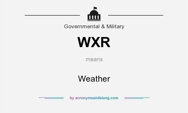 What does WXR mean? It stands for Weather