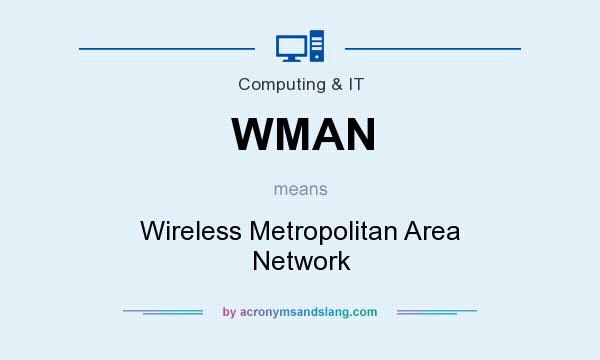 What does WMAN mean? It stands for Wireless Metropolitan Area Network