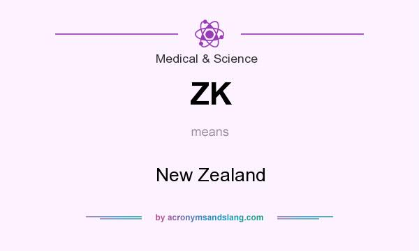What does ZK mean? It stands for New Zealand