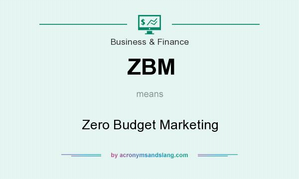 What does ZBM mean? It stands for Zero Budget Marketing