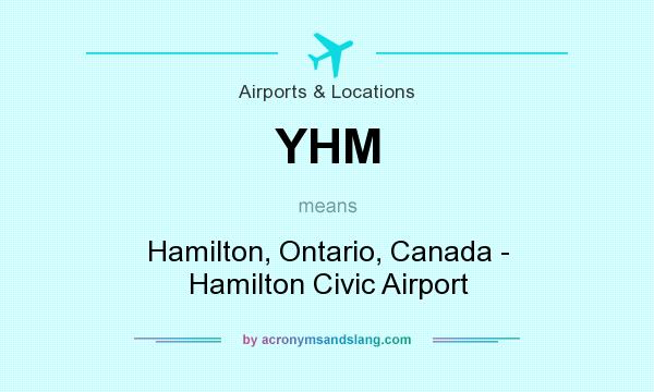 What does YHM mean? It stands for Hamilton, Ontario, Canada - Hamilton Civic Airport