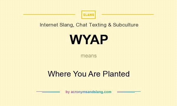 What does WYAP mean? It stands for Where You Are Planted