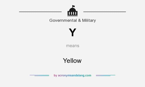 What does Y mean? It stands for Yellow