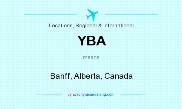 What does YBA mean? It stands for Banff, Alberta, Canada