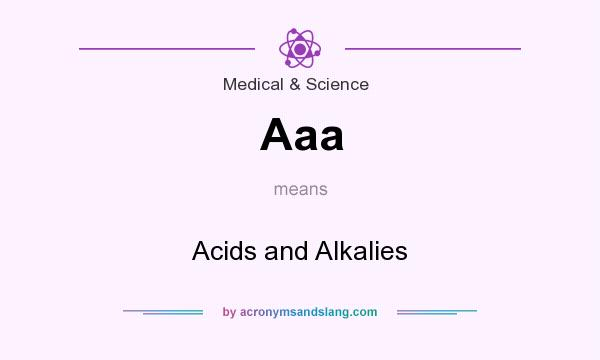 What does Aaa mean? It stands for Acids and Alkalies